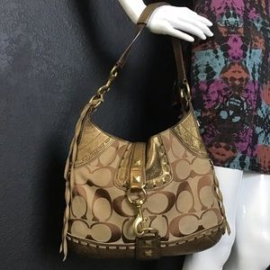 Coach Legacy Gold Leather Hobo